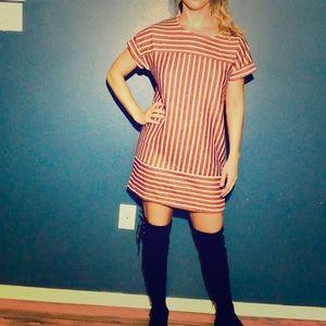 She + Sky Short Sleeve Striped Dress Size Small